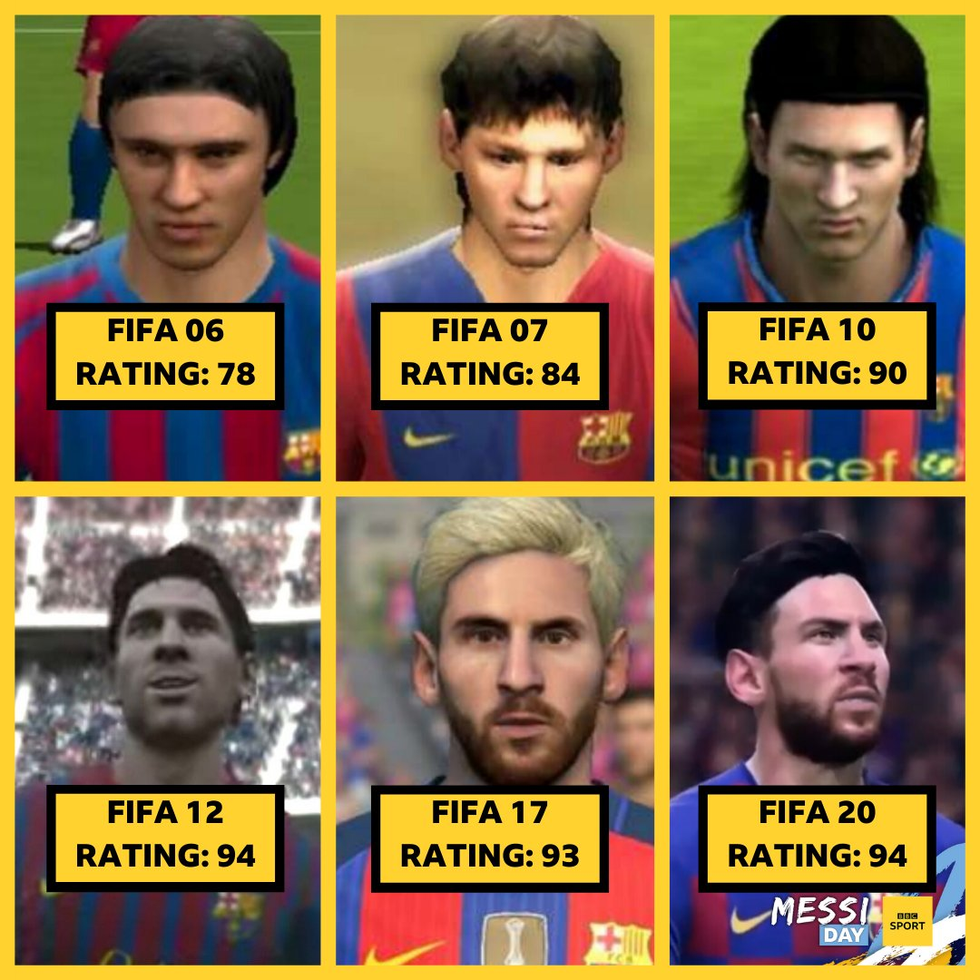 Anyone spot the potential in Lionel Messi in FIFA 06 career mode? 💫 #MessiDay #BBCMessiDay