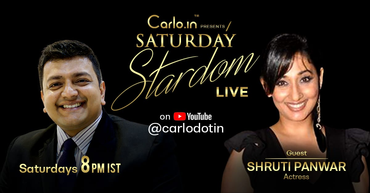 Leading Television actress Shruti Panwar will be going live with @_mr_sujay  on https://t.co/zLNX3ge5vM presents Saturday Stardom tonight at 8:00 pm on https://t.co/zLNX3ge5vM's Youtube Channel. Subscribe NOW :  https://t.co/MleGFBXNAC @ShrutiUlfat_FC #Bollywood #Actress #model https://t.co/nqSZFIgKun