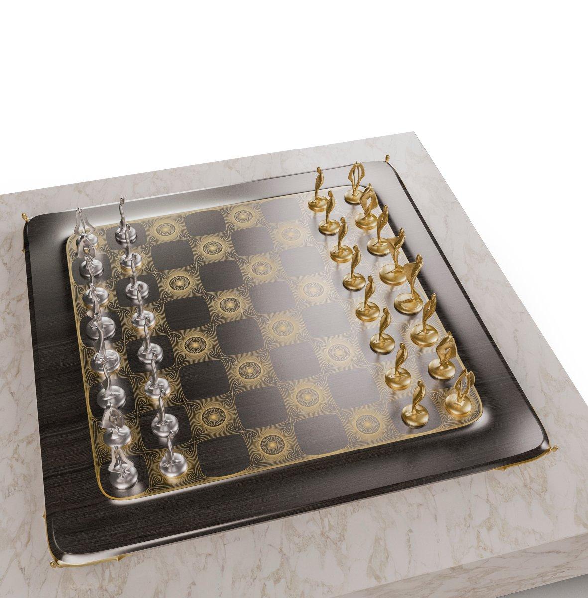 Pandov Chess Set with ChessBoard....  #chess #pandov #chessset #sculpture #aesthetic #chessbeauty #luxury #art #instaart #beautifulchess #blackandwhite #chessart #chessdesign #amazingdesign #decorinspiration #decorative #minimaldesign #decorlover #decorhome  #luxurygift #mind