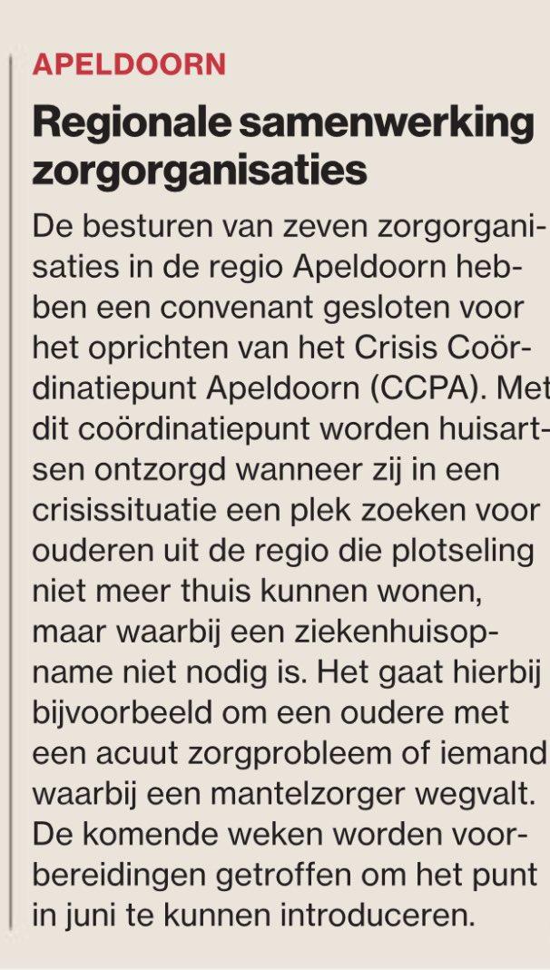Mooi resultaat! Hoeven de huisartsen niet meer te leuren, bellen en zoeken naar passende plekken voor hun patienten. @atlantzorg, @Viattence, #huisartsenRegioApeldoorn, @VerianThuiszorg @ZG_Apeldoorn, @zorggrotewaarde, @ZilverenKruis. 👌🏻👍🏻 https://t.co/NeBWe1uucU #nualtijdplek https://t.co/V8opv20pm6