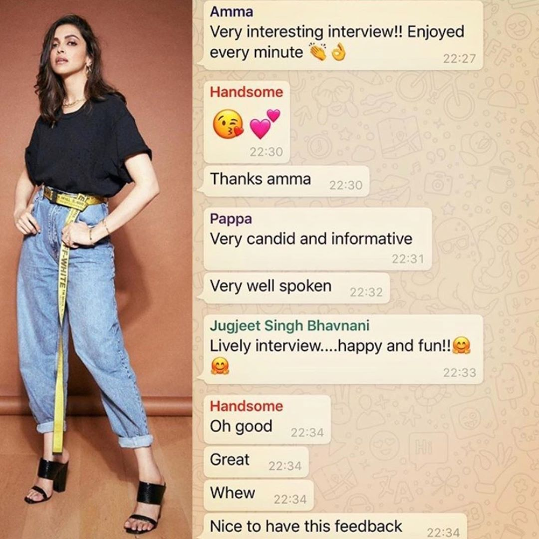 Okay so Biwi Deepika has saved Pati Ranveer Singh contact by the name of 'Handsome' revealed in family chat #ranveersingh #deepikapadukone #deepika #deepikapadukonefans #ranveersinghfanclub #deepveer #bollywood #bollywoodupdates #bollywoodcouplepic.twitter.com/BRsiPRMH8G