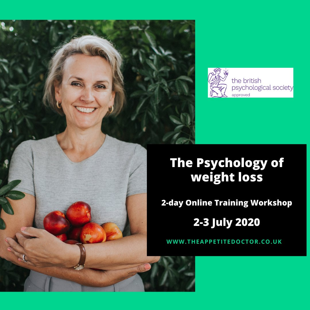 """One of the most useful workshops I have been to in years. It was very informative and incredibly inspiring"" 2-day workshop for professionals on how to help your  clients change unhelpful eating habits #psychology #eating #weightloss #habits #motivation #willpower"
