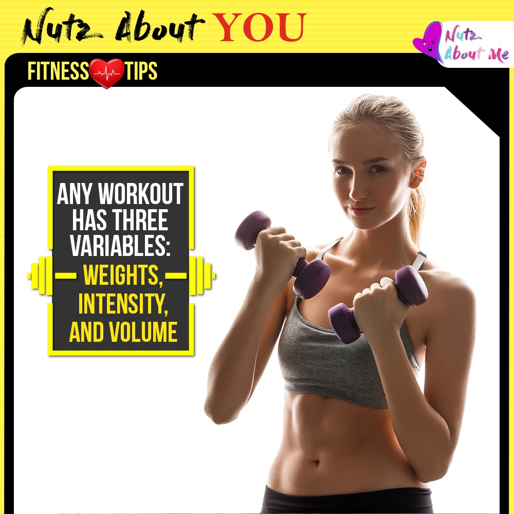 To keep your body guessing, focus on one variable per workout.  #Nutzaboutyou #Fitnessmotivation #Fitnesstips #Healthyfood #women #womenfitness #training #fitness #workout #body #health #motivation #nutzaboutme