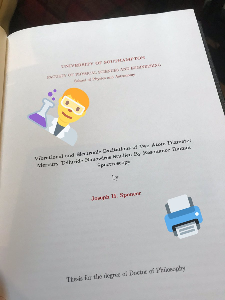 My 1st thesis included a chapter on how time at an atomic level is irrelevant. I ended up removing the whole chapter. Now I'm thinking maybe this is an opportunity to re-issue my thesis: the director's cut edition#thesiswriting #thesis #phdchat #directorscut #PhDonepic.twitter.com/wNqY8bEOpO
