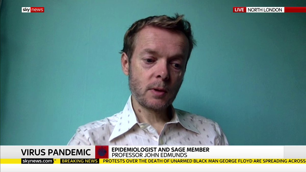 Epidemiologist and SAGE member Professor John Edmunds says it is risky to ease lockdown at this stage as the R rate is only just below one leaving not a lot of room for manoeuvre and that England alone is still seeing 8,000 new infections a day. trib.al/7tPFxdm
