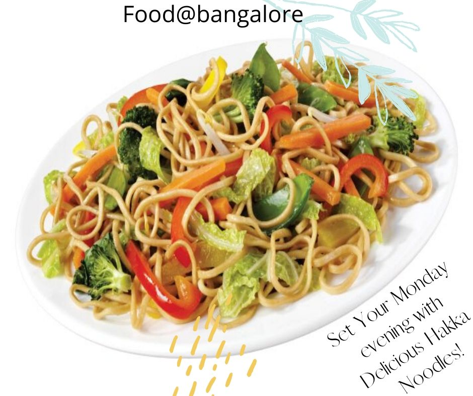 Make your kids happy with this delicious hakka noodles, just toss up all your favourite veggies like capsicum, carrot, spring onions and cabbage in a tangy mix of sauces and you'll have a clear winner at the table! #hakka #foodie #food #foodporn #foodgasm #foodlover #foodblog
