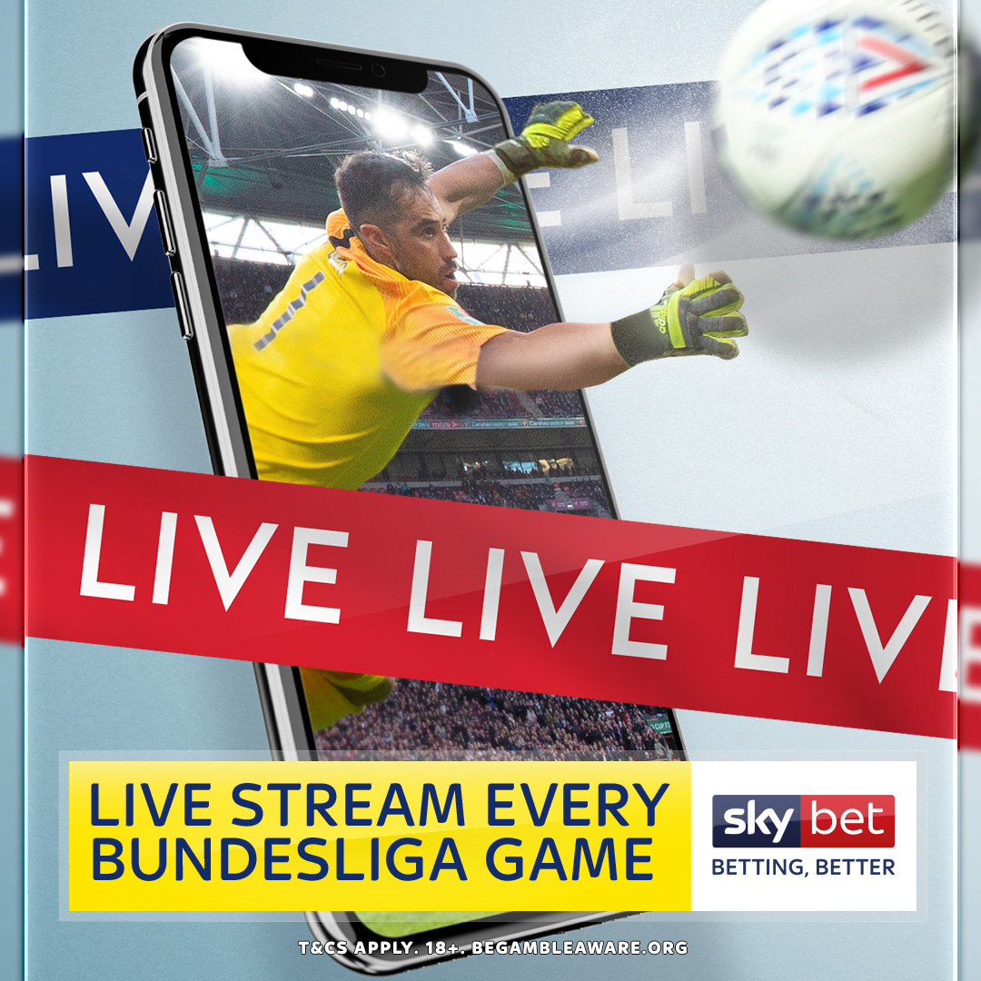 German football continues today with action from the #Bundesliga and you can watch it for FREE on Sky Bet ⚽📺 Simply log into your Sky Bet account & live stream every game this weekend 📲🇩🇪