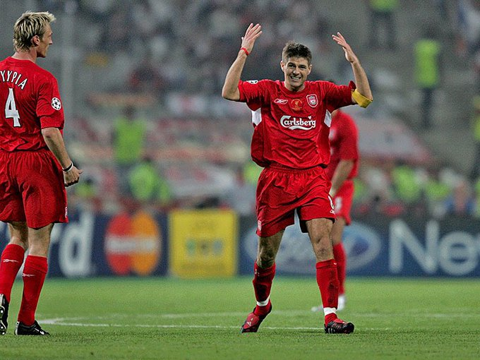Happy birthday my capitain steven Gerrard the best midle for ever love you so much