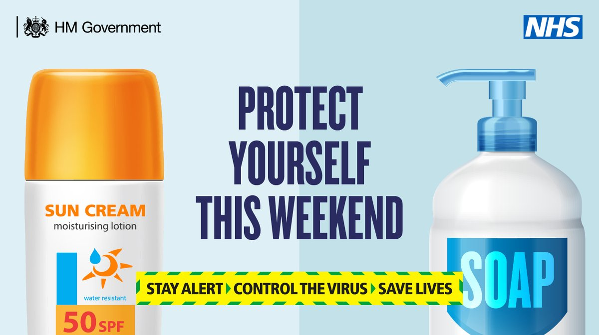This weekend, protect yourself. Wash your hands regularly, using soap and water. #StayAlert