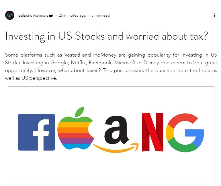 Want to invest in #Facebook #Apple #Amazon #Netflix or #Google?   Read about the tax implications in India and USA here - https://t.co/43yk9iUrPF  #USstocks #IndMoney #Vested #Stocks https://t.co/yryYP92uju