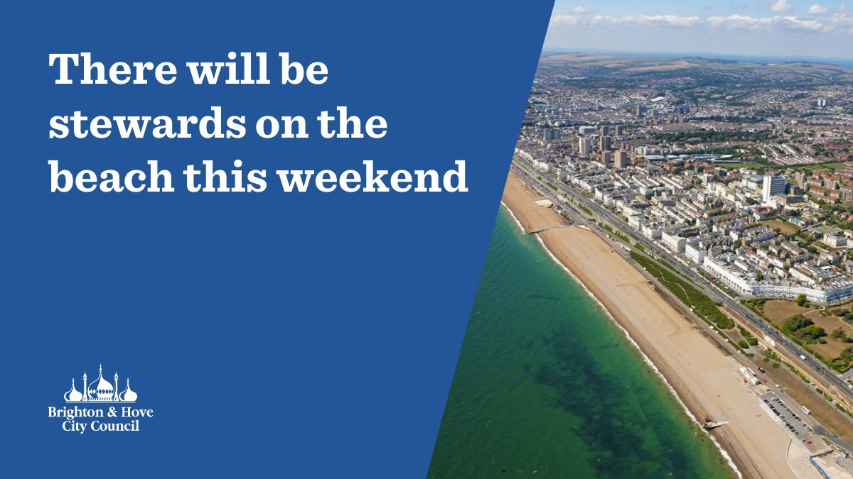 To help everyone stay safe this weekend there will be stewards on the beach They will be working on the central beach area from 11am - 6pm on both Saturday 30 and Sunday 31 May ⚠️ Please stay 2m apart from those not from your household ⚠️ More info: ow.ly/HNVv50zTEAv