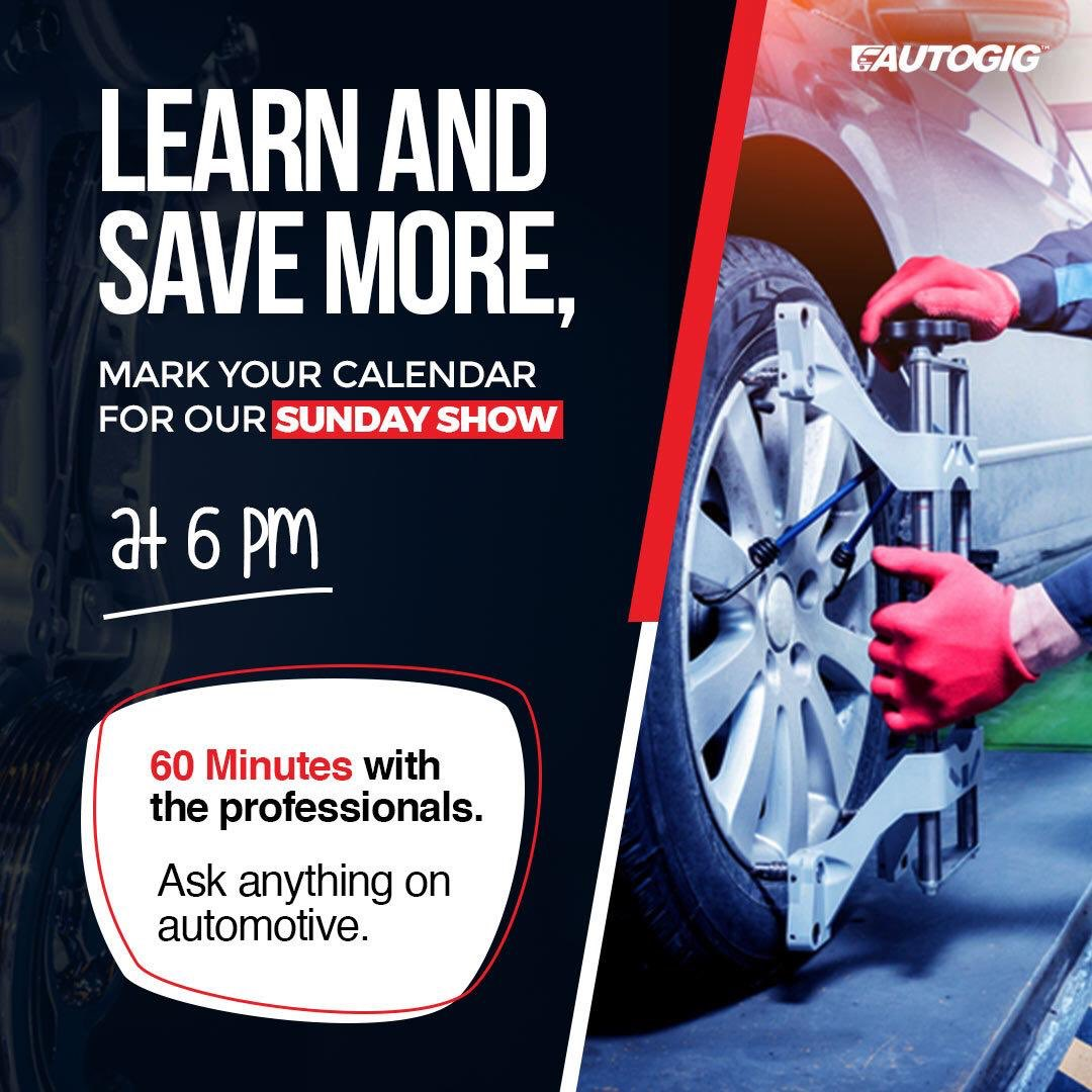 Don't forget to join us live Every Sunday at 6:00PM . . .    #AutogigTv #60MinsWitPro #Autogig #Production #AutogigDiagnoses  #Covid19 #Pandemic #AutogigTrainning #AuogigSales #WePutYouFirst #weputyourcarfirst https://t.co/zoQHoXLNXm