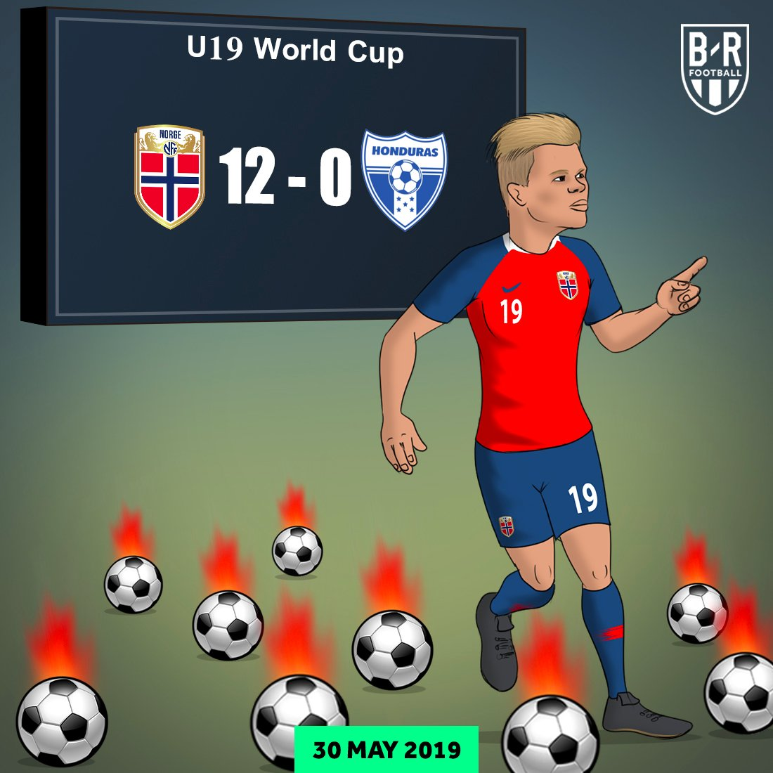 On this day last year, Erling Haaland scored a hat-trick of hat-tricks in the U20 World Cup. He hasnt stopped scoring since...