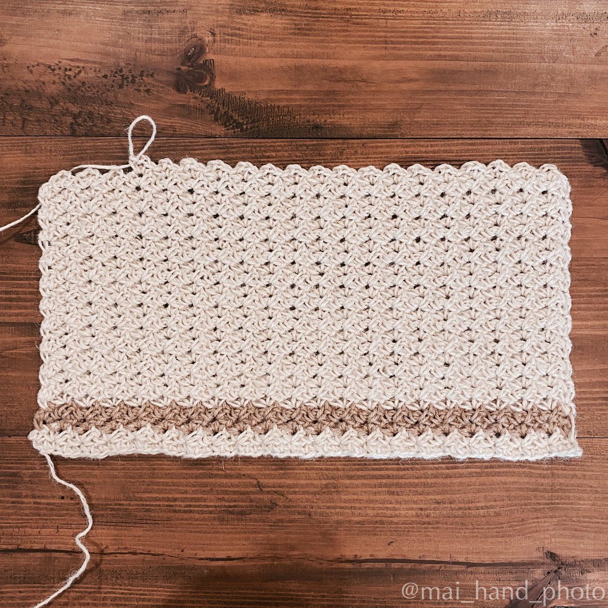 夏の西日に負けないジュートのシェードを編み始めました😉  #かぎ針編み #crochet  #ハンドメイド #handmade  #編みもの #knitting #ジュート #jute https://t.co/P62HnQvKpB