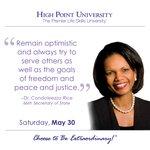 [CALENDAR] #DailyMotivation from Dr. Condoleezza Rice. #HPU365