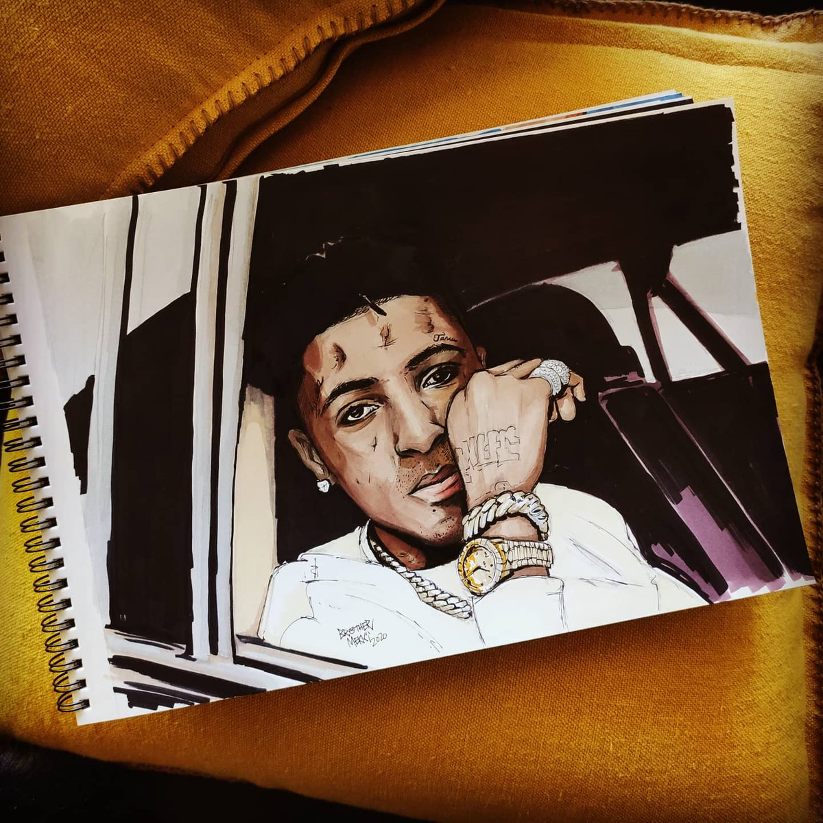 Youngboy Never Broke Again @GGYOUNGBOY  #youngboynba #nbayoungboy #batonrouge #louisiane #louisiana #nba #boosiebadazz #kevingates #illustrationoftheday #illustration #dessin #promarkers #winsorandnewton #rapmusic #38baby #untildeathcallmyname #outsidetodaypic.twitter.com/igJMncA4ad