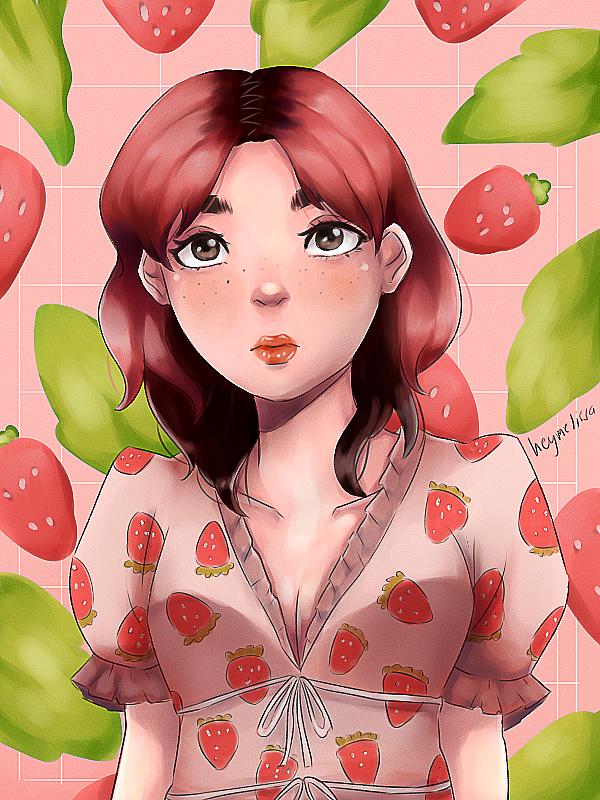 Strawberry Princess   inspired by dua lipa's pink hair. now i wanna create a fruit art series  #artph #DuaLipa #digitalartpic.twitter.com/bvKZpksKvL