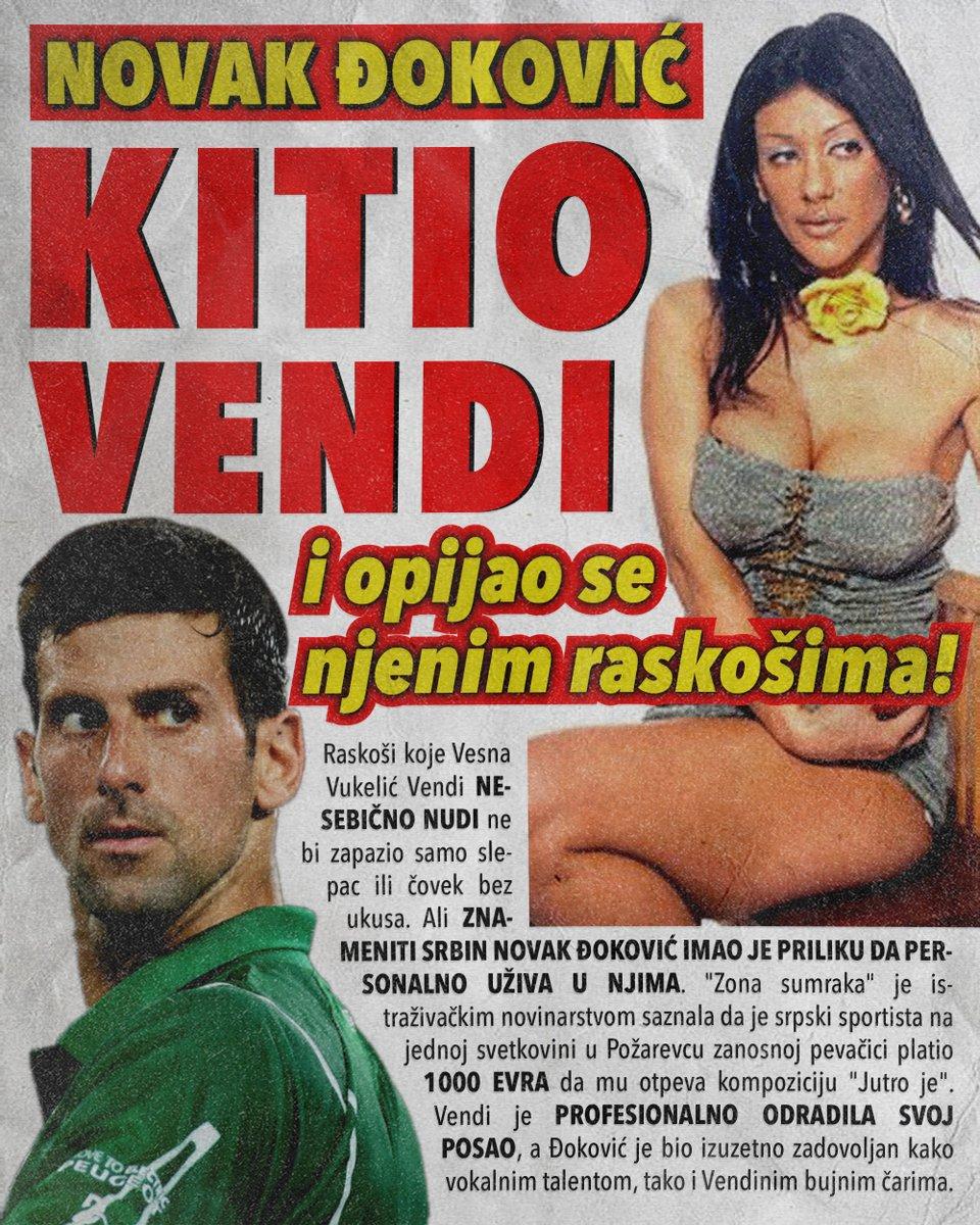 Novak Đoković kitio Vendi i opijao se njenim raskošima