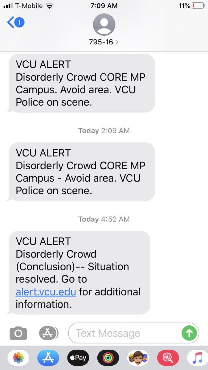 Also saw this tweet from VCU police that the disorderly crowd disperse around 4:52 am #RVA #richmond #protests https://t.co/sFKkUCg3T8