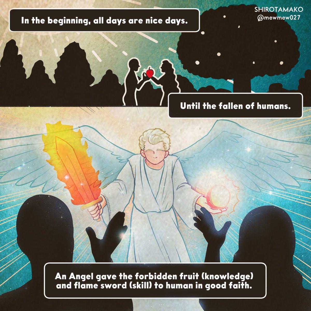 #GoodOmens #SoftSheepDemonAU short comic 《In the beginning》Part 1-4 #goodomensfanart #ReverseAU
