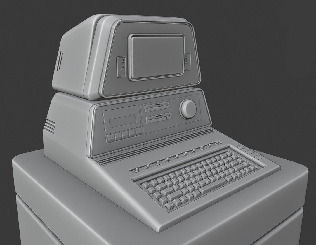 More progress this morning.  Working on an #Alien prop as part of a larger piece. Just working on the blockout.  #Aliens #b3d #blender #gamedev #gameart #3dart #Alienisolation #80s #tech #scifi #SciFiFri #weylandyutani #nostromo