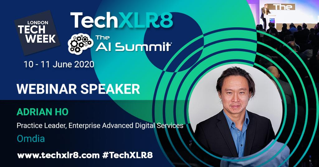 Not long until @OmdiaHQs @adrianho11 takes the virtual stage to present #Omdias survey findings, in collaboration with #TechXLR8 and #LTW. Register today 👉 spr.ly/6014G8uPa #webinar #webinarseries #AI #Edge #blockchain