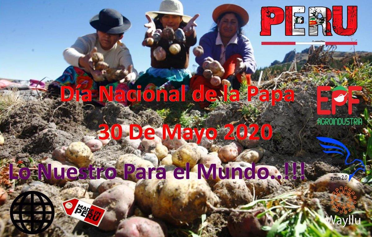DIA NACIONA DE LA PAPA  Agradecemos,Reconocemos el Trabajo de Nuestros Compatriotas Agricultores.Tradicion Milenaria #MadeinPeru#CulturaMilenaria #MarcaPerú #PromPerú #OcexItalia #ue#italy#MINCETUR #mercosur#AlianzaDelPacifico #JRCpic.twitter.com/DW7kmBEtZv