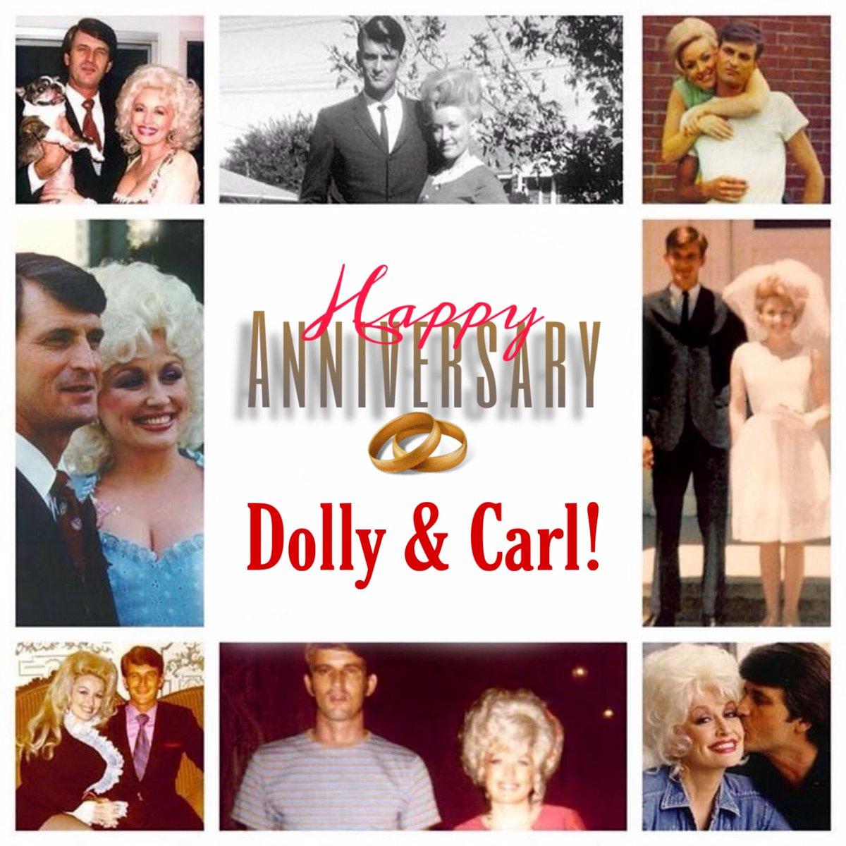Happy 54th Anniversary @DollyParton and Carl! #dollyparton #dolly #dollyandcarl #happyanniversary #anniversary pic.twitter.com/PyGGvWsfmh