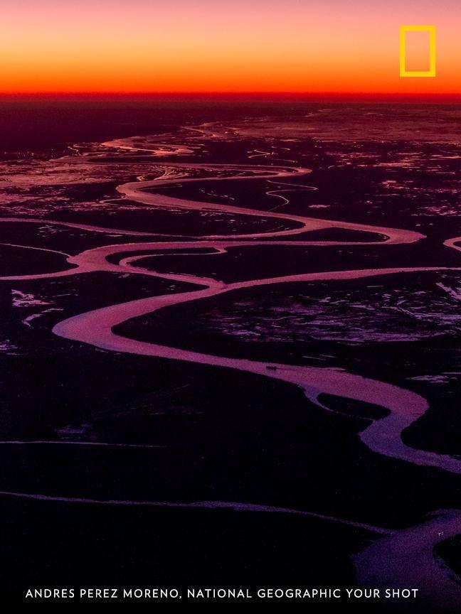 Sunset illuminates the Paraná Delta in this gorgeous scene captured by Your Shot photographer Andres Perez Moreno