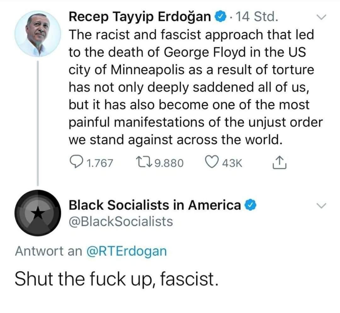 Wenn ein Faschist versucht den Mord an #GeorgeFloyd zu instrumentalisieren..