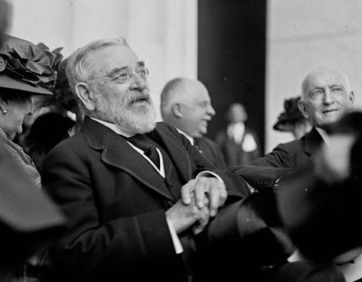 78-year-old Robert Todd Lincoln at dedication of Lincoln Memorial, Washington DC, today 1922: