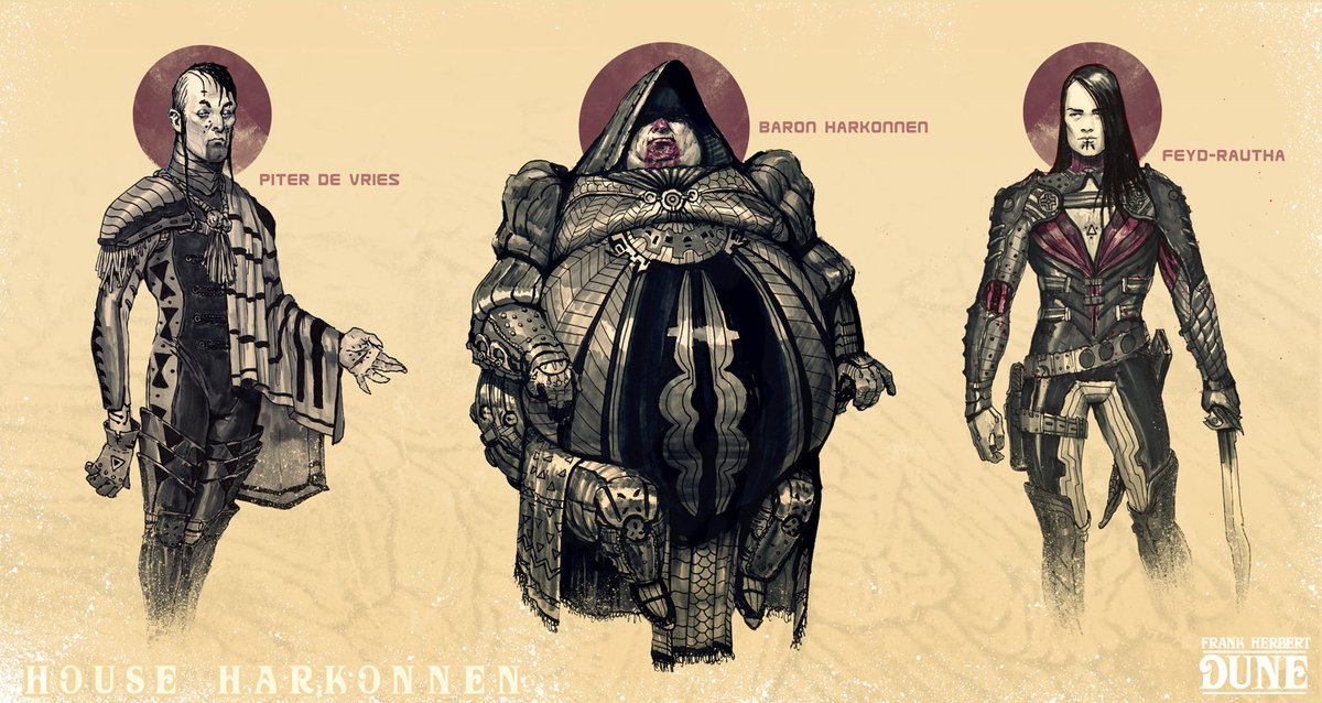 Back in 2014 Tom Kraky did some great #Dune sketches as part of Inktober.  More at:  https://www. artstation.com/tomkraky    <br>http://pic.twitter.com/iKu1pQa7rS