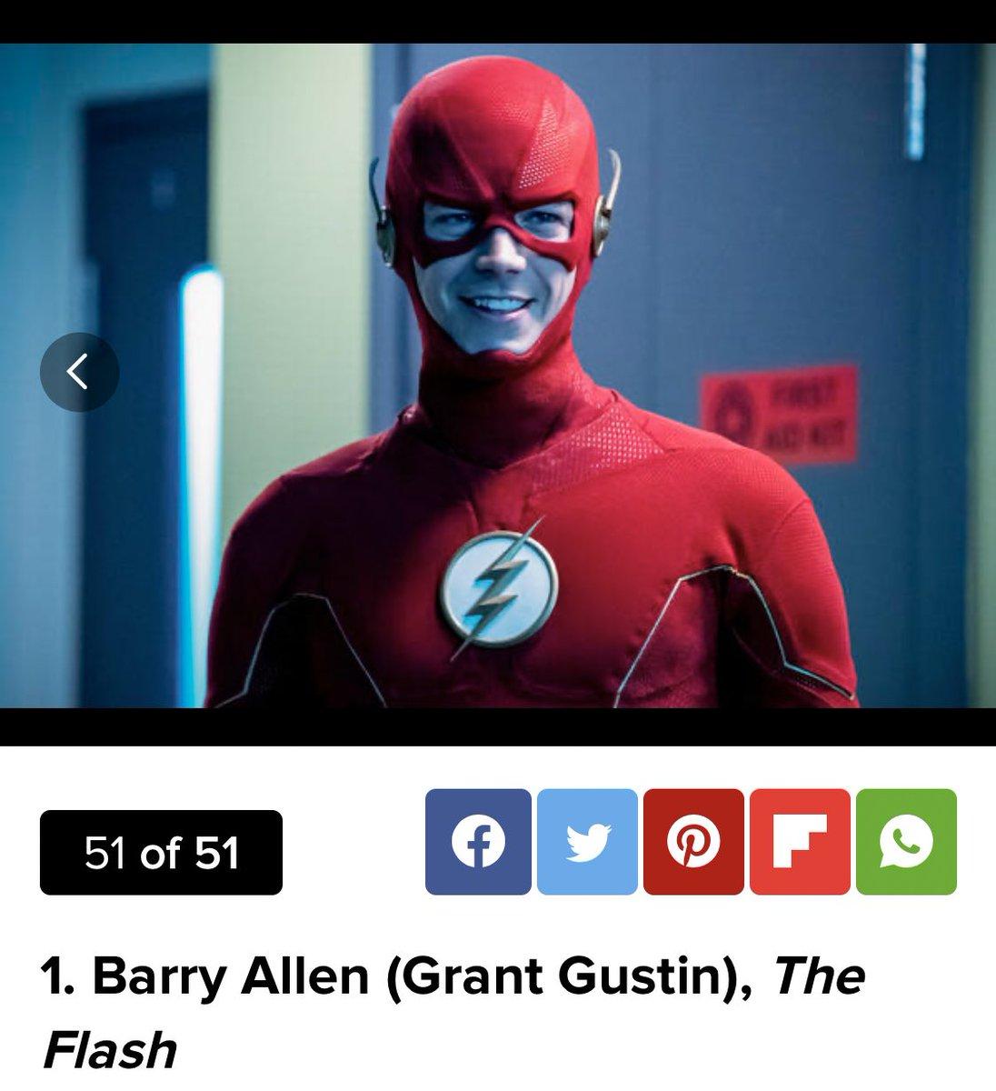 Barry & Kara being number 1 & number 2 on TV Guide's list of best Arrowverse characters. Ahhh damn right  <br>http://pic.twitter.com/ULtLrtsTjd