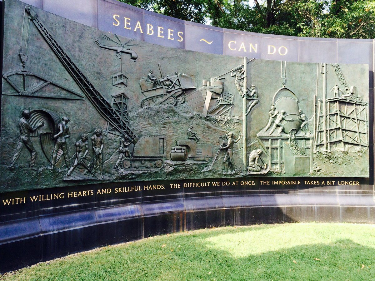 Thanks to all our Seabees! The difficult we do immediately; the impossible takes -- eh -- a little bit longer. 🇺🇸⚓️