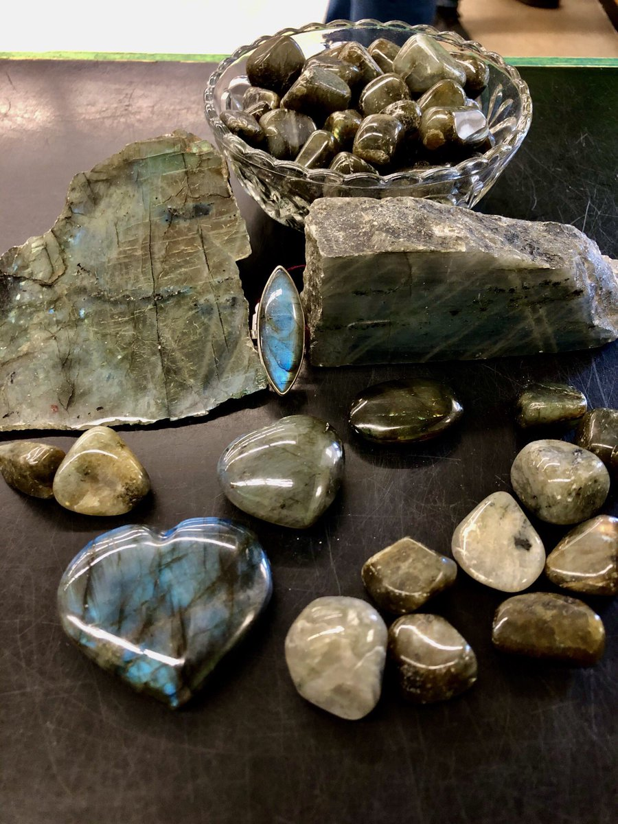 #Labradorite: Another great stone to help you get #energy moving and increase #motivation! ✨😃💫 You can come get them and everything else on sale 15% Off thru June 6th! 🎉 It's our Reopening Celebration Sale! 💓 #crystals #gemstones #blue #jewelry #spirituality #spiritual