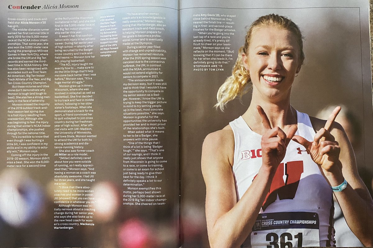 "Check out the Summer 2020 issue of ""OnWisconsin"" Magazine for a feature on the great @leashamonson https://t.co/a3uDFktgrR"