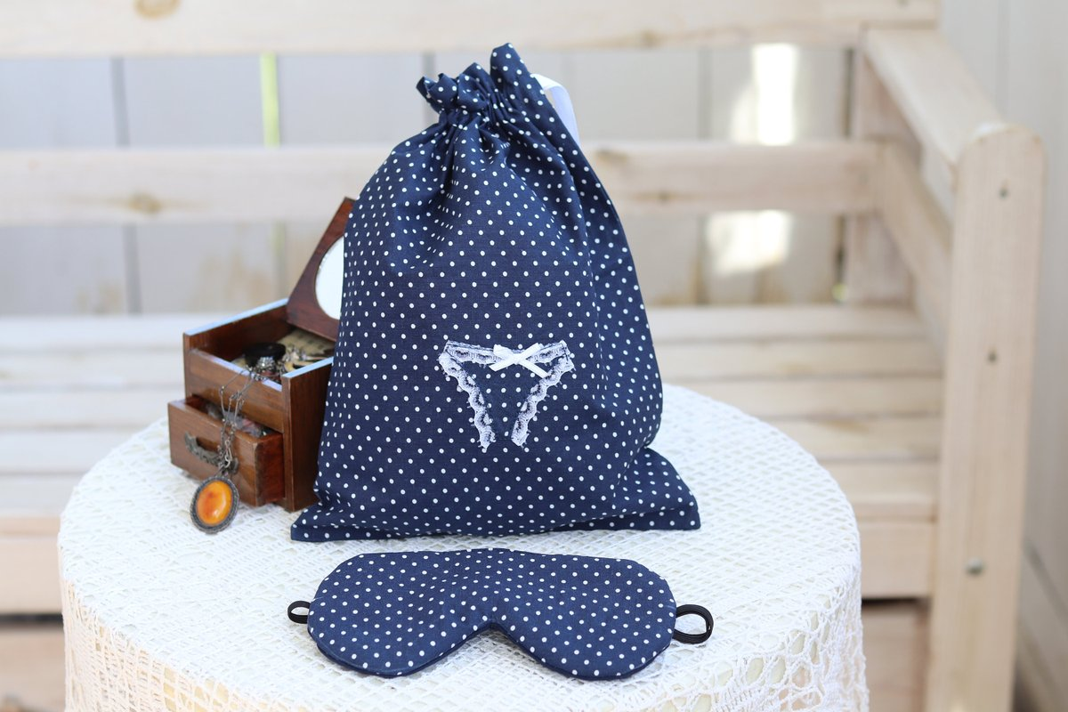 Cute Bridal shower gift  #blue #bridalshower #valentinesday #birthdaygift #drawstringpouch #lingerietravelbag #laundrytravelbag #weddinggift #bridalshowergift