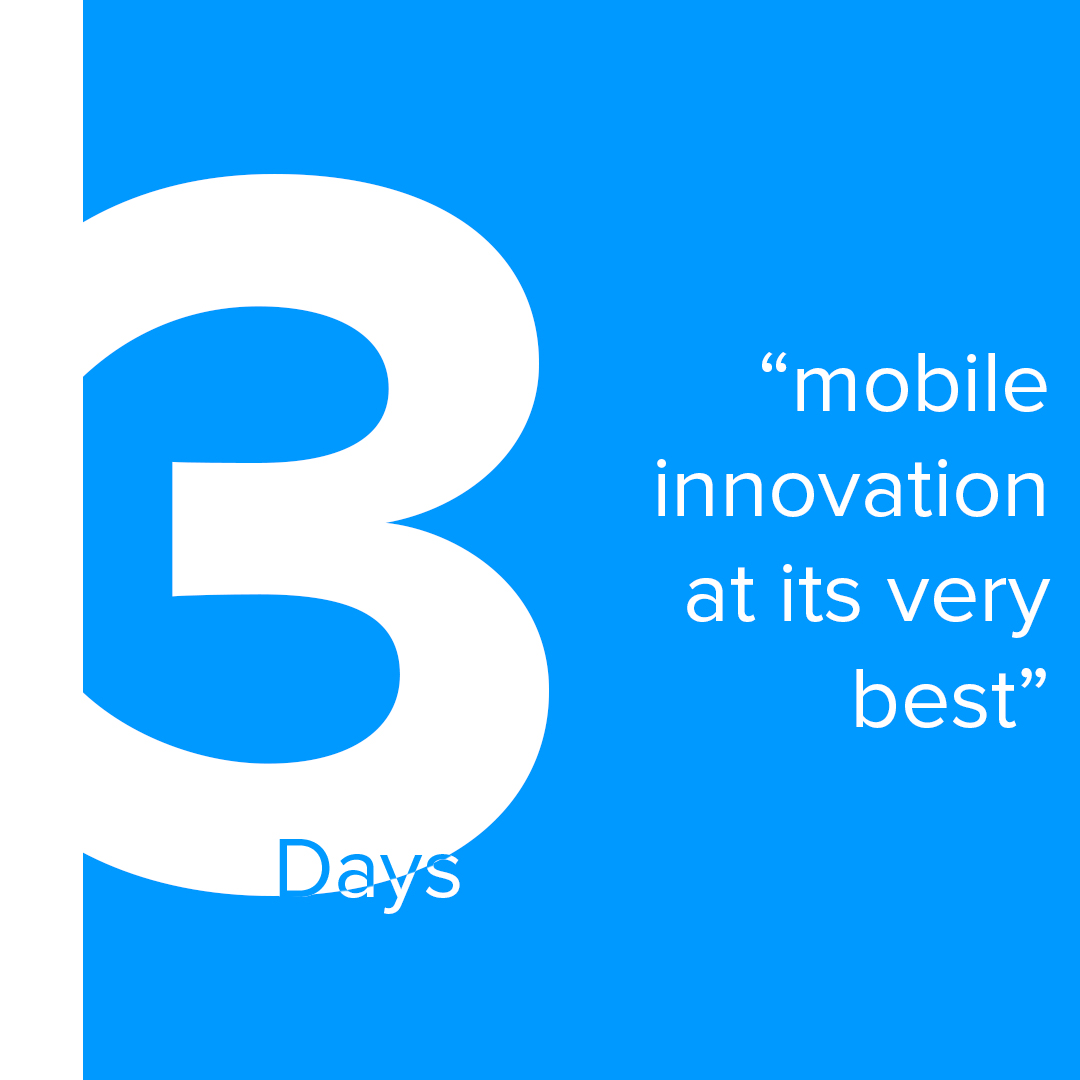 As we head into another great weekend, the countdown is down to only 3 days! Are you curious as to what we have up our sleeves? #mobiletech #mobileinnovationpic.twitter.com/bXUMC5PsEM