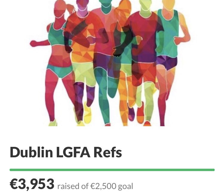 LATEST UPDATE our referees group who are out n about today doing 5k all in aid of the wonderful people of @SFHDublin have surpassed their €2.5k goal BIG THANK you everyone for their support 🙌🏻 Plz keep the donations coming 👇🏻 gofundme.com/f/dublin-lgfa-…? #RefsOnTheRun