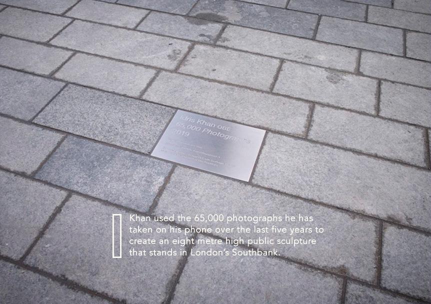 Idris khan    65,000 photographs (public sculpture), 2019 #beyond_the_negative #photography #contemporaryphotography #technology #socialchange #expandedphotography #revelation #idriskhan #65000photographs #sculpture #public #proliferationofphotography #southbankpic.twitter.com/4yM7GNwKbn