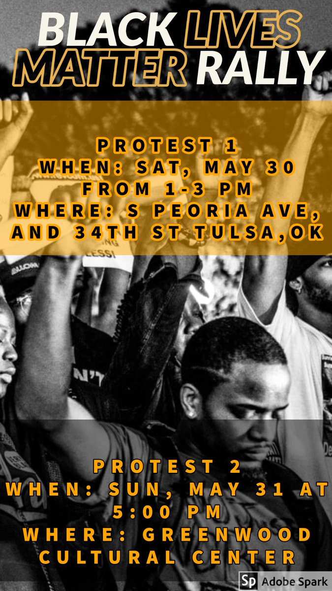 For anyone in the Tulsa Oklahoma area wanting to participate in protests I made some flyers with info!!! #BlackLivesMatter <br>http://pic.twitter.com/91Cgr4Di4v