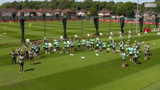 The Liverpool squad with a special happy birthday sing-a-long for Steven Gerrard