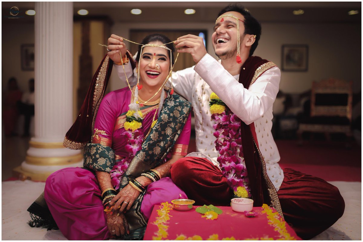 What is laughter's part in a wedding anyway? #indianwedding #wedding #indianbride #bride #wedmegood #indianweddings #weddingphotography #maharashtrianwedding #love #marathibride #indian #weddingsutra #weddinginspiration #bridal #bridalmakeup #photography #maharashtrianbridepic.twitter.com/QVfiYuS5yr
