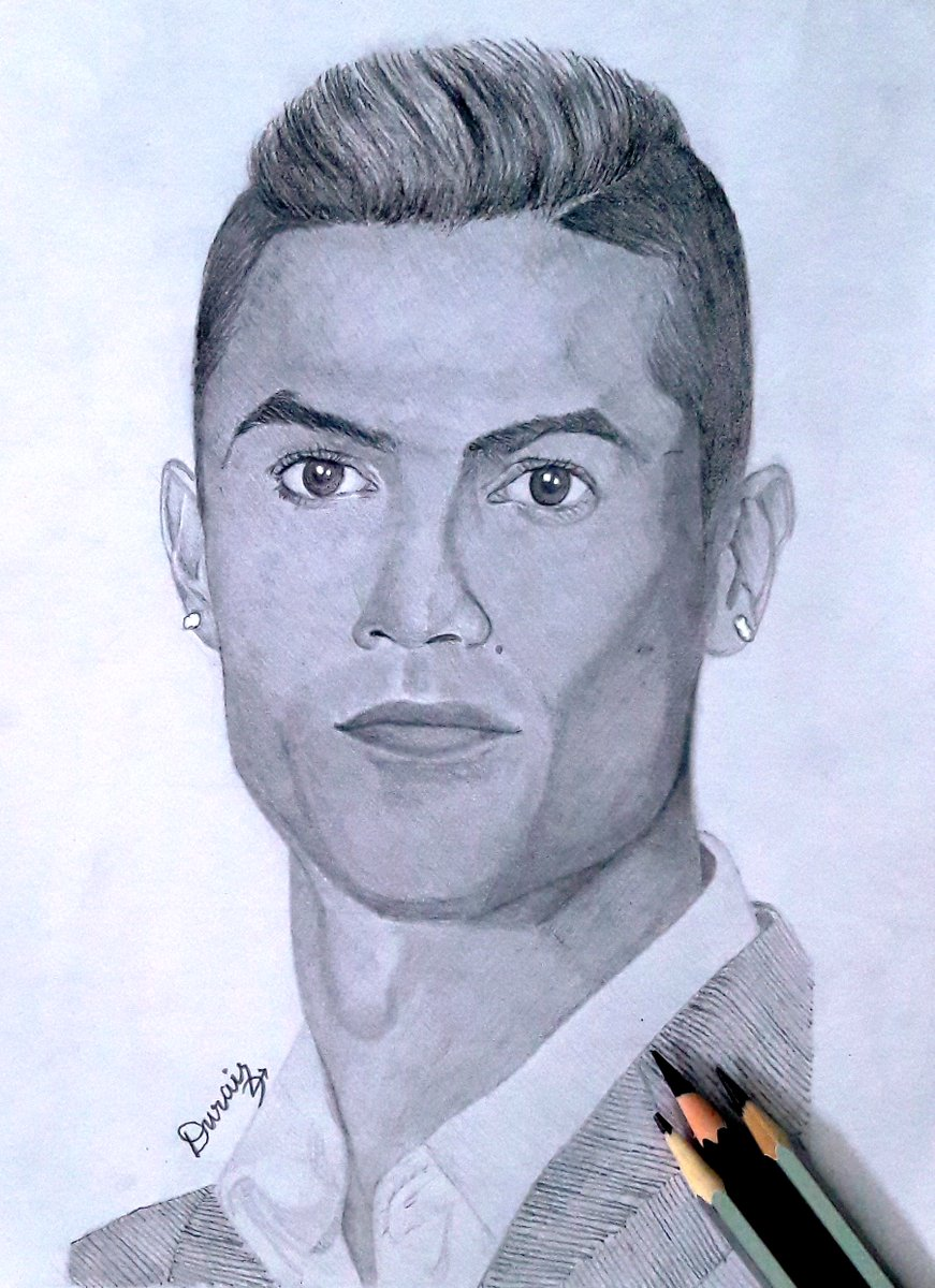 Portrait #Drawing of #Portuguese #footballer #CristianoRonaldo   Watch it on: https://youtu.be/v2M18IZg_gc  #Ronaldo #football #realism #portrait #Pencildrawing #pencilart #Juventus #drawingoftheday #artists #HowToDraw #artwork #sportpic.twitter.com/Js5L7A0fyc