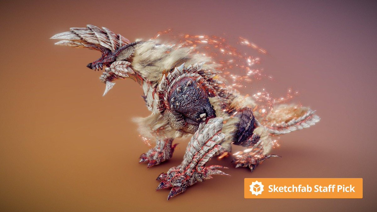 New staff pick: Stygian Zinogre - Fan Art by AVR Creative. Check it out in #3D, #AR or #VR: bit.ly/36FPQwj #MadeWithSubstance #maya