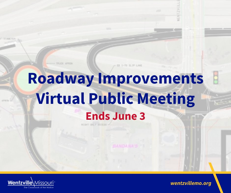Don't miss out on your opportunity to offer feedback on the proposed improvements at the I-70/Wentzville Pkwy interchange and the extension of Wentzville Pkwy to Interstate Dr. The City of Wentzville is hosting a virtual public meeting until June 3 at https://projectmeetingonline.com/wentzpkwy/.pic.twitter.com/mnBe7KFwBN