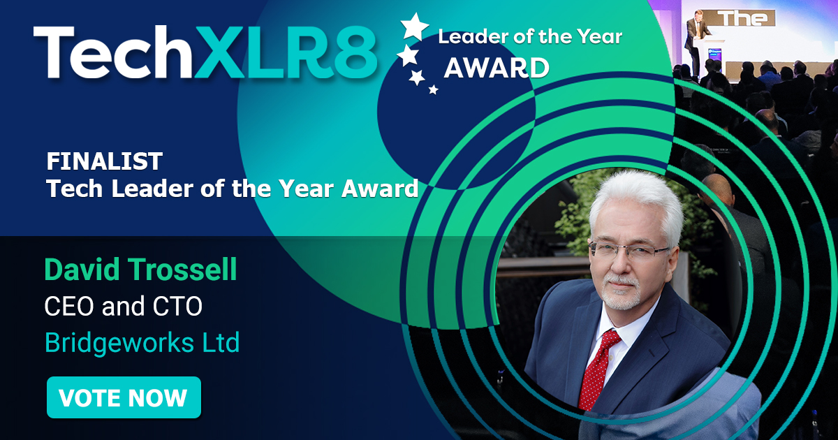 Help our CEO David Trossell win the #TechXLR8 Tech Leader of the Year Award 2020, for outstanding #tech leadership! Vote here! bit.ly/2ygaAxO #awardwinning #data #leadership