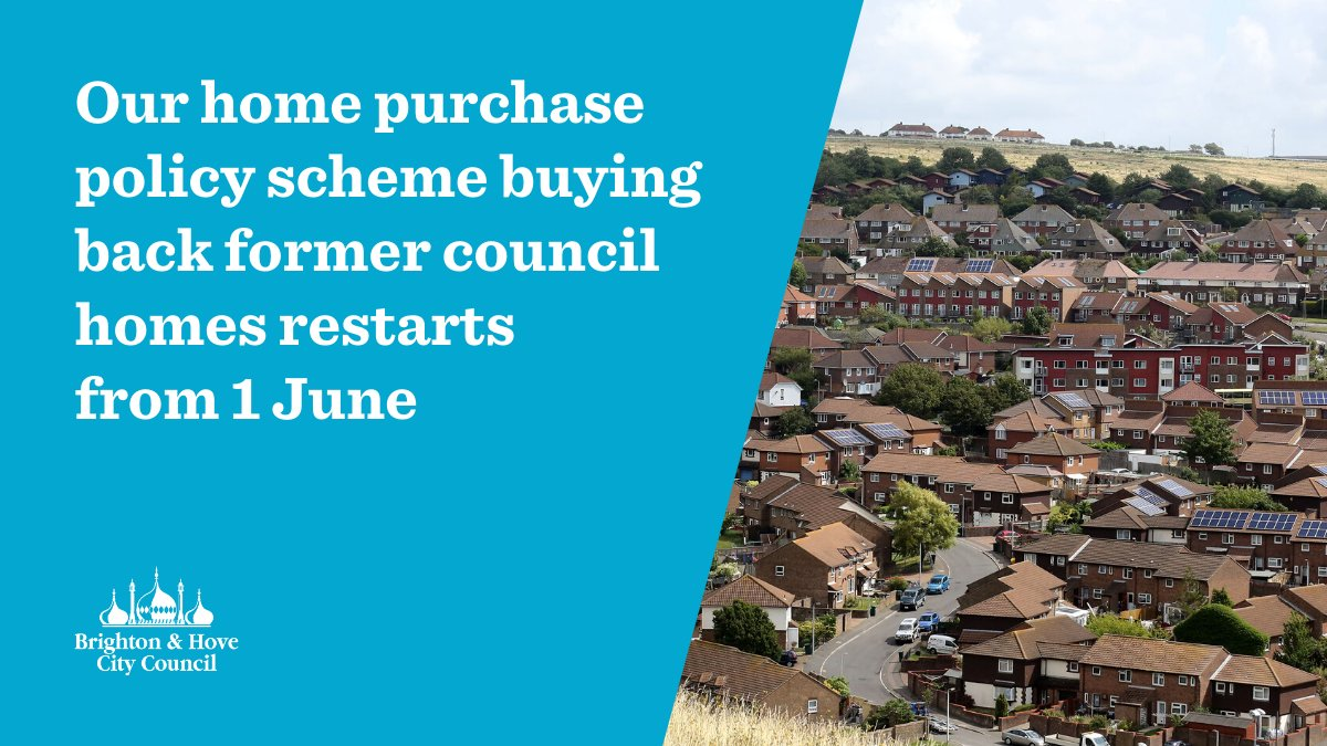 Were reintroducing our home purchasing scheme from Monday. The scheme lets us buy back properties up to the value of £500,000 sold through the Right to Buy scheme. Further details at ow.ly/cDuu50zPYVv