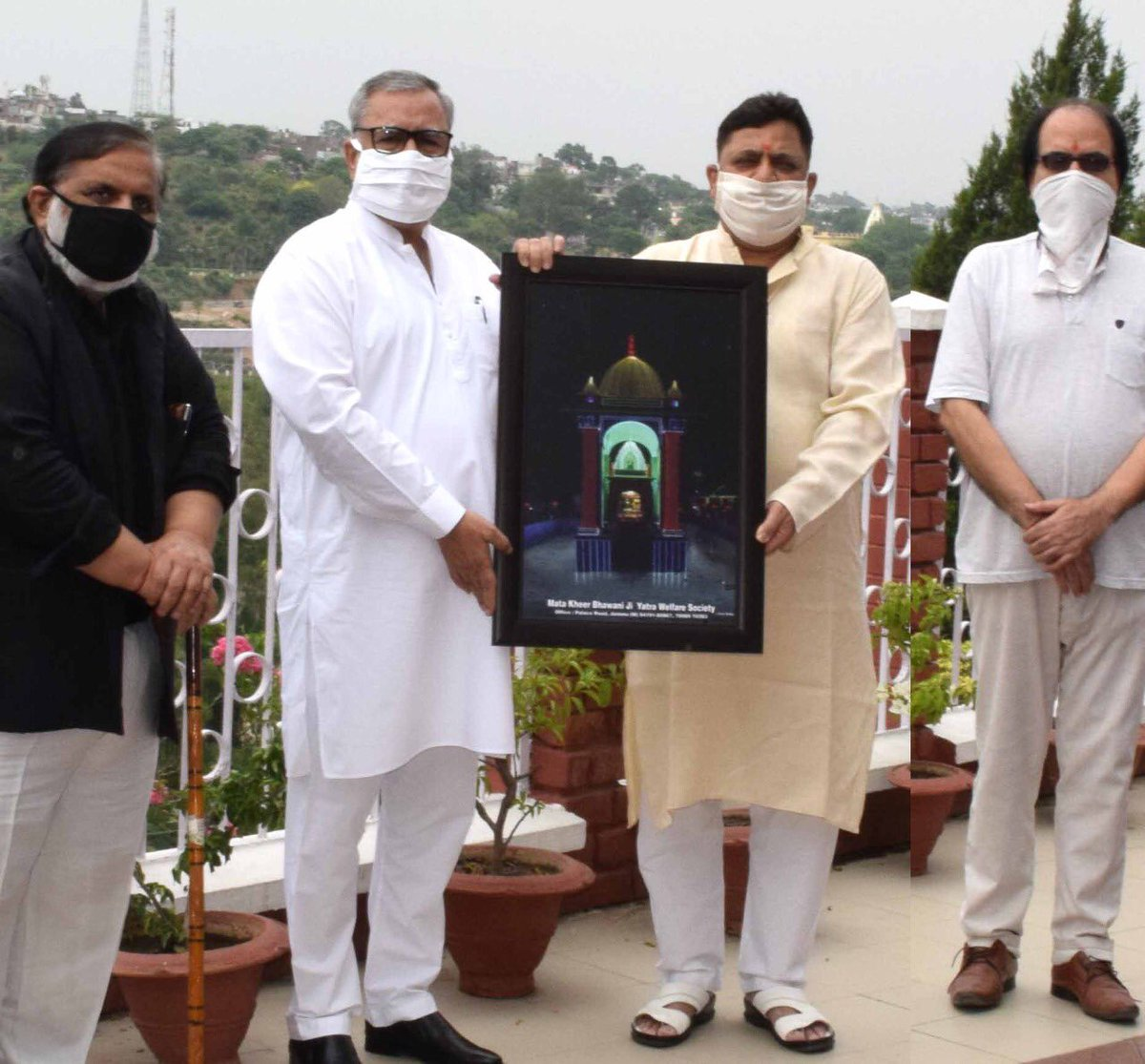Advisor to Lieutenant Governor, Farooq Khan today released a specially designed LED Glow of #MataKheerBhawani in #Jammu on the occasion of #JyeshthaAshtami.
