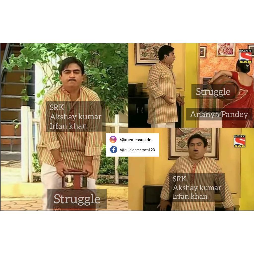 #Memes #memesdaily #MEMEKBASAH #memes2020 #FunniestTweets #Funniestmemes #dankmemes #dankmeme #TMKOC #jethalal #jethiya #jethalalmemes #ananyapanday #AnanyaPandey #SRK #ShahRukhKhan #AkshayKumar #irfan_khanpic.twitter.com/4BlJhePcDq